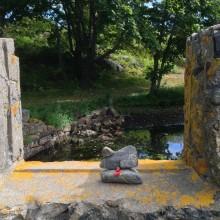 Rock Sculpture at Intern Orientation